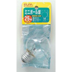 【美品】 (まとめ買い) ELPA ミニボール球 電球 25W E26 G50 クリア G-80H(C) 【×25セット】, イブスキシ 8cb7353b
