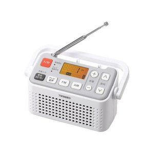 注目の ツインバード 手元スピーカー機能付3バンドラジオ(テレビ音声/FM/AM) ホワイト AV-J125W, マツドシ 1f685f82