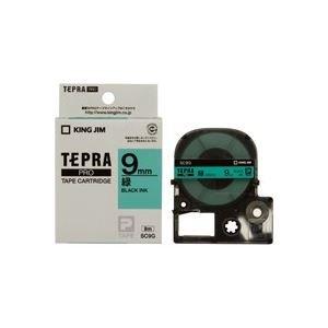 限定価格セール! (業務用50セット) キングジム テプラPROテープ SC9G 緑に黒文字 9mm ×50セット, クッキーメール eea6d18c