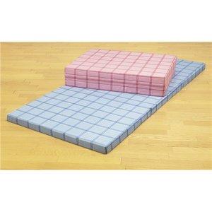 格安即決 腰を支える3つ折れ格子柄バランスマットレス セミダブル ブルー【日本製】【】 セミダブル 薄型 三つ折りベッドマットレス, ニシタガワグン:26199de5 --- turkeygiveaway.org