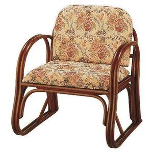 【格安saleスタート】 楽々座椅子/パーソナルチェア 【座面高33cm】 肘付き 籐製 座面:ジャガード織り生地使用 RZ-739M【】, アバック f265fed4