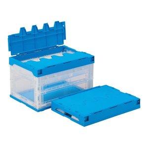 正規激安 三甲(サンコー) サンクレットオリコンラック 50B(長短側扉あり)-B 透明ブルー【折りたたみ コンテナボックス(ふた付き)】【】 折り畳み式で収納にも便利な蓋付きコンテナBOX, MAROON:576c6739 --- frmksale.biz
