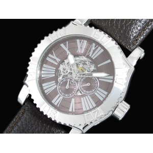 誕生日プレゼント GALLUCCI ガルーチ スケルトン スケルトン メンズ ガルーチ 腕時計 腕時計 WT23337SK-SSBR, 勢和村:0caa5876 --- akadmusic.ir