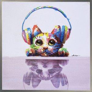 最新エルメス ユーパワー アートフレーム オイル・ペイント・アート ユーパワー ハンドペイント ミュージックキャット OP-25061【送料無料】(), ブランドストリートリング:2864db3d --- hospitalesmac.com