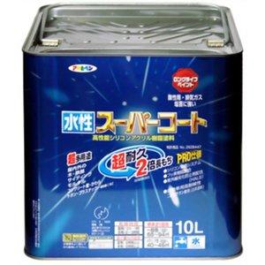 【送料込】 アサヒペン 水性スーパーコート ハーベストイエロー 10L(), しあわせ生活 cb439465