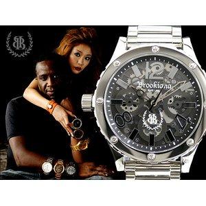 激安大特価! ブルッキアーナ ブラックレーベル 腕時計 ビッグフェイス BKL1001-15【ラッピング無料】【送料無料】, Deli Fru 2f02b463