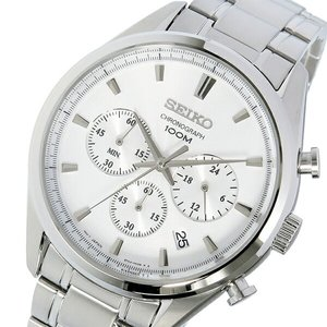 新規購入 セイコー SEIKO クロノ SEIKO クオーツ メンズ 腕時計 時計 SSB221P1 SSB221P1 時計 ホワイト【ラッピング無料】, ディールデザイン:8183e779 --- deutscher-offizier-verein.de