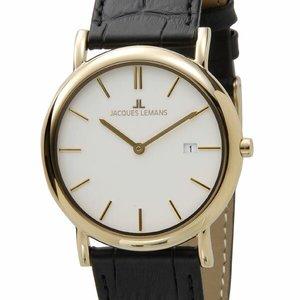 誕生日プレゼント ジャックルマン ケビンコスナー アンバサダーモデル ヴィエナ 40mm メンズ 腕時計 時計 1-1370H ホワイト, ジュエリーショップ ルビーノ 48312b57