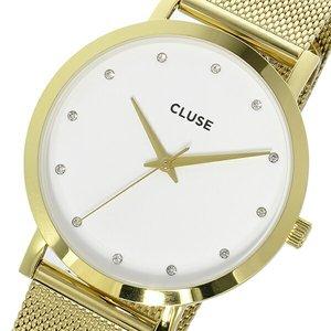 【同梱不可】 クルース CLUSE レディース ラ・ボエーム メッシュベルト 38mm CLUSE レディース 腕時計 時計 腕時計 CL18302 ホワイト/ゴールド【ラッピング無料】, 大佐町:0bfa4a15 --- affiliatehacking.eu.org