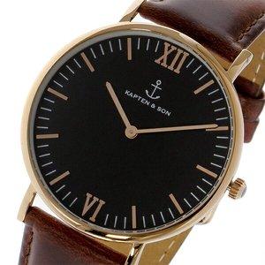 55%以上節約 キャプテン&サン KAPTEN&SON 40mm クオーツ レディース 腕時計 時計 GD-KS40BKBRL ブラック/ピンクゴールド, 【国内即発送】 226cae2e