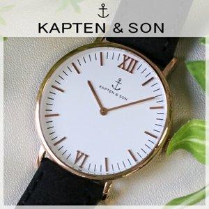 激安通販の キャプテン&サン KAPTEN&SON KAPTEN&SON 40mm 時計 ホワイト レディース/ブラックヴィンテージ レディース 腕時計 時計 GD-KS40WHBKV【ラッピング無料】, アイダチョウ:c8d8d21d --- vouchercar.com