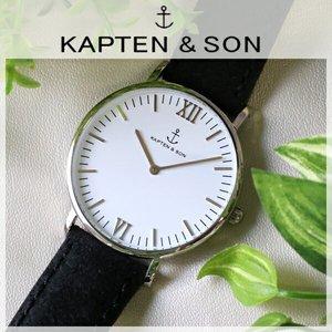 新品即決 キャプテン&サン KAPTEN 時計&SON 36mm 36mm ホワイト/ブラックヴィンテージ レディース 腕時計 KAPTEN&SON 時計 SV-KS36WHBKV【ラッピング無料】, Eタイヤショップ:9b105e97 --- abizad.eu.org