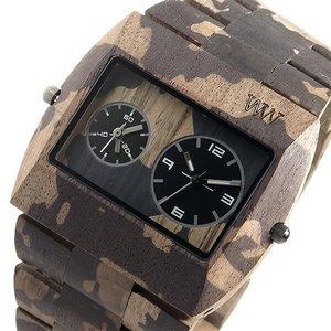 【時間指定不可】 ウィーウッド WEWOOD 木製 メンズ 腕時計 時計 JUPITER-NACA-NUT ブラウン/カモ 9818091 国内正規, MKcollection 25ef9b7a