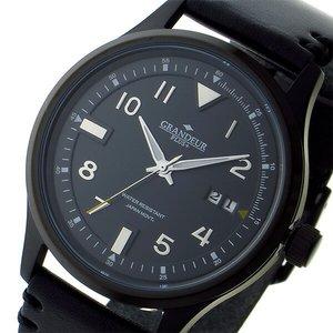 店舗良い グランドール GRANDEUR プラス PLUS クオーツ メンズ 腕時計 時計 GRP005B1 ブラック, R-one bbdf50be
