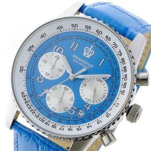 100%本物保証! グランドール japan GRANDEUR 日本製 made in japan クロノ GRANDEUR JOSC028W5 クオーツ メンズ 腕時計 時計 JOSC028W5 ブルー【ラッピング無料】, 優生活:f78e419f --- passion4work.hu