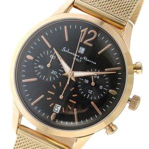 お気に入り サルバトーレマーラ SALVATORE MARRA メンズ 腕時計 時計 SM17110M-PGBK ブラック, モンベツチョウ 90b69cee