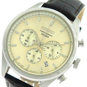 【保証書付】 セイコー クロノ SEIKO クロノ セイコー クオーツ SSB293P1 メンズ 腕時計 時計 SSB293P1 シャンパンゴールド/ブラウン【ラッピング無料】, プーカ:0f3c8add --- pyme.pe
