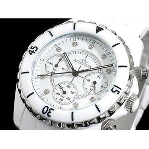 高級感 アジェンダ AGENDA 腕時計 時計 レジン クロノグラフ AG-8519-01, オーケーマート 59dc26a2