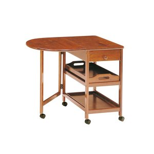 激安店舗 木製テーブル付ワゴン KW-415BR ブラウン ブラウン【き】, セカンドスピリッツ:b53a3159 --- pyme.pe