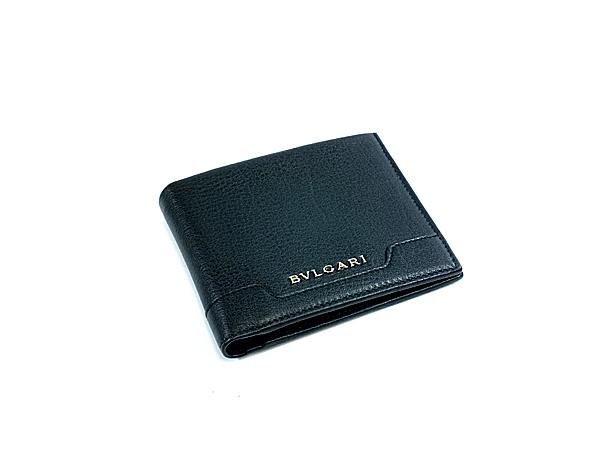 32b85e50655f ブルガリ BVLGARI BLACK 二つ折り 短財布(小銭入れ/コインケース無) BV33401【送料無料】