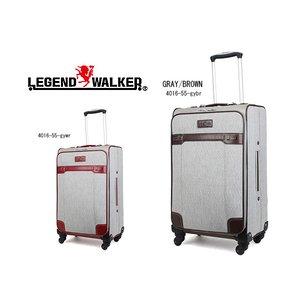 【良好品】 レジェンド レジェンド ウォーカー スーツケース 41L 4輪 41L 4輪 4016-55-GYBR GRAY/BROWN (き), Tidy-Chouchou:b02924b0 --- fukuoka-heisei.gr.jp