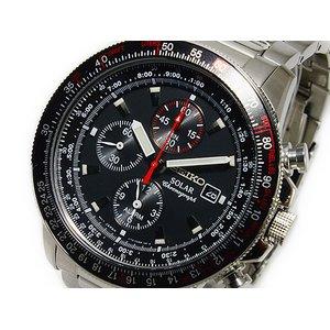 【正規逆輸入品】 セイコー SEIKO ソーラー クロノグラフ アラーム 腕時計 時計 SSC007, 藤イチ 37383a9d