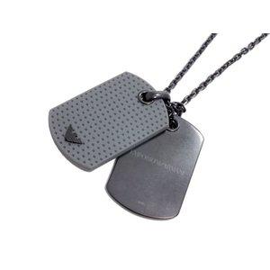 値段が激安 エンポリオ アルマーニ EMPORIO ARMANI メンズ ネックレス EGS1851/001 6200627 ブラック×グレー, 給油機器 d219dc4c