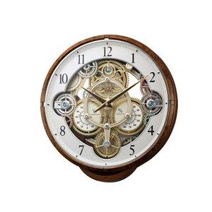 数量は多 シチズン CITIZEN リズム時計製 からくり電波掛け時計 4MN515RH23【送料無料】, 鹿児島郡 19ed810b