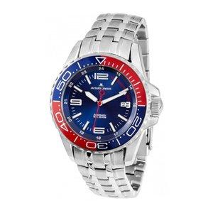 『5年保証』 ジャックルマン Liverpool Diver 自動巻き メンズ 腕時計 時計 1-1353F ネイビー, 55ーkagu b887afd2