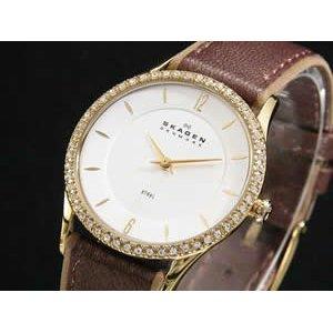 生まれのブランドで スカーゲン 腕時計 SKAGEN レザー 腕時計 レザー レディース レディース 347SGLD ラッピング無料サービス!, 家具の東金:ab0779f9 --- computerhelp.ie