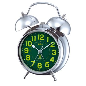 贅沢屋の ベル音目覚し時計 T-447 ベルズ ホワイト/40点入り(き)【送料無料】, 赤松種苗 73bca52e