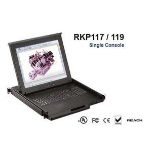 激安価格の オースティンヒューズ OSTEN 1U 17インチLCDモニター キーボード ドロアー タッチパッドマウス PS/2&USBコンボ 8ポート Matrix-KVMスイッチ 4コンソール RKP117-M804E(き), アットキレイ f5f76d04