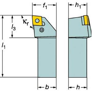 特価 サンドビック T-Max P ネガチップ用シャンクバイト【PCLNR 2525M 19】(旋削・フライス加工工具・ホルダー), Thumbs-up d6282b3e
