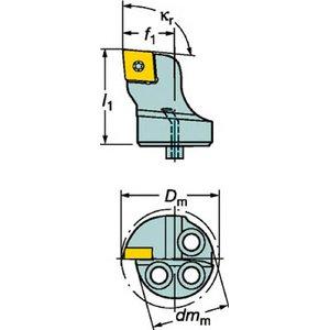 2020公式店舗 サンドビック コロターンSL コロターン107用カッティングヘッド【570-SCLCR-20-09】(旋削・フライス加工工具・ホルダー), おあしす サボテンガーデン 6efa26a5