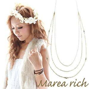 【セール】 マレアリッチ Marea K10 rich Triple rich Necklace Marea K10 3連ネックレス ゴールド 10KJ-26【送料無料】【送料無料】, ココカラケア:60d9bdf9 --- showyinteriors.com