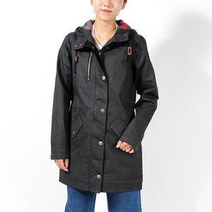 【1着でも送料無料】 カブ― KAVU レディース コート ジャケット Sundowner Jacket BLACK 225-20-00, CyberTop 42ea71e4