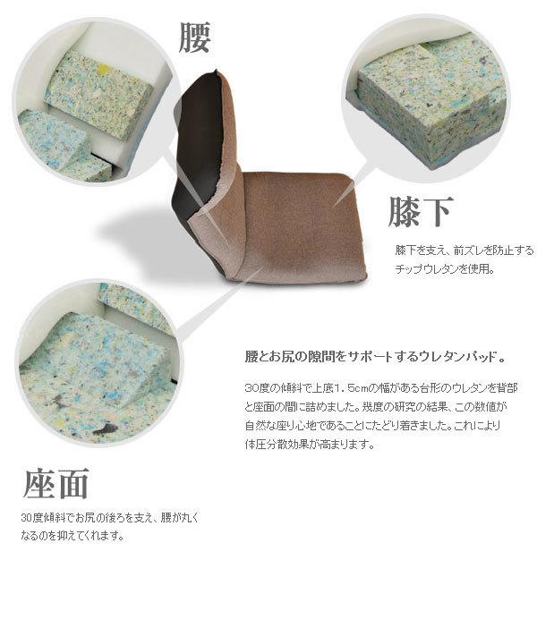 ITAWARI座椅子:腰、膝下、座面パッド