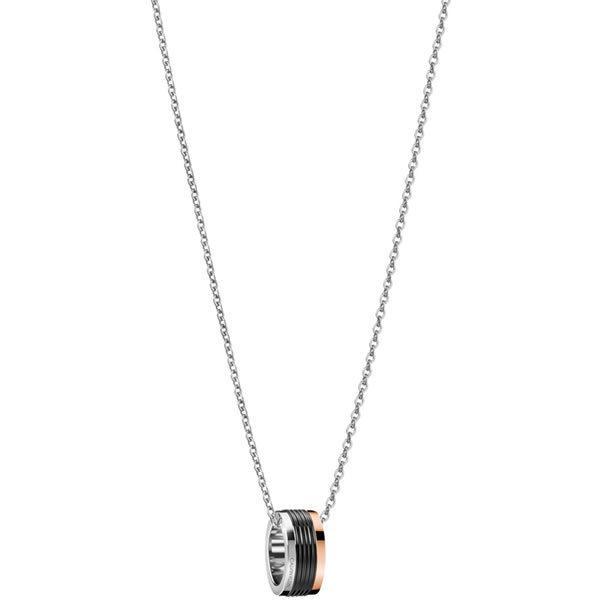 Calvin Klein カルバンクライン KJ7MBN300100 メンズ レディース ネックレス ペンダント トリコロール サークル