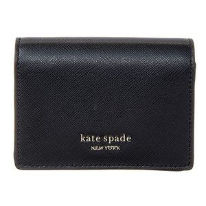 【メーカー公式ショップ】 【並行輸入品】KATE SPADE ケイトスペード PWRU7852 001 レディース キーリング付 二つ折り財布, Lotus clothing 64303361