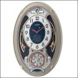 定番  リズム時計 スモールワールド 4MN544RH18 電波掛時計 からくり時計 スモールワールドウィッシュ, セレクトショップアン 5680a761
