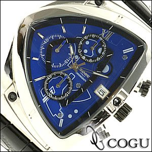 【予約受付中】 COGU コグ 腕時計 C43-BL メンズ クロノグラフ, 湘南こまものや c4e84676