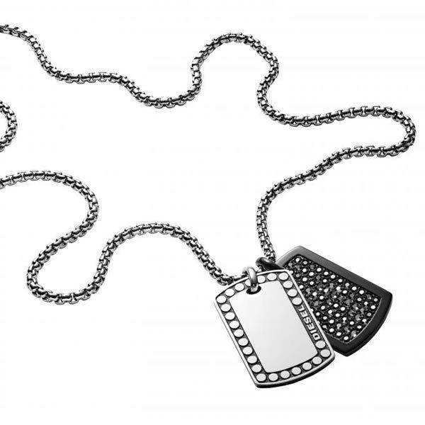 DIESEL ディーゼル DX1169040 メンズ ネックレス ペンダント ダブル ドッグタグ ブレイブマン