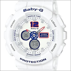 【激安大特価!】 海外CASIO 海外カシオ 腕時計 BA-120TR-7B レディース BABY-G ベビージー White Tricolor Series ホワイト トリコロール シリーズ, カニ缶詰の OH!GLE(オーグル) 9024f0ba