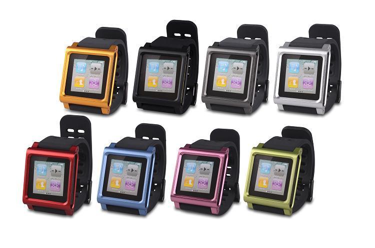 ipod nano 第6 世代 ケース 時計型ケース シリコンアームバンド 8GB 16G
