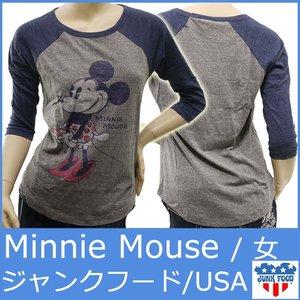 02f7d04230a3 JUNKFOOD1066 ジャンクフード ポンパレ Tシャツ レディース ラグラン ポンパレモール t ミニー マウス セール ディズニーDisney