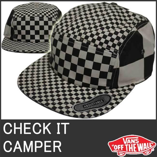 3b2654fd502e4 VANS 9024 バンズ キャップ 帽子 チェッカー 白黒... Aina【ポンパレ ...