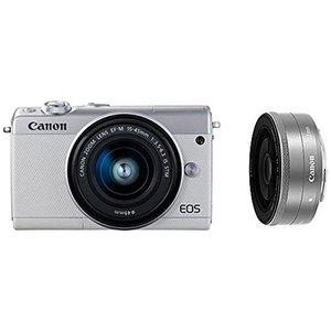 【国内即発送】 Canon キヤノン EOS M100 ダブルレンズキット [ホワイト]【お取り寄せ品】, SCOOPS 9510c81a
