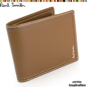 【日本限定モデル】 ポールスミス Paul Smith 財布 二つ折り財布 キャメル psk707-70 メンズ 紳士, Billboard e-shop 5843d376