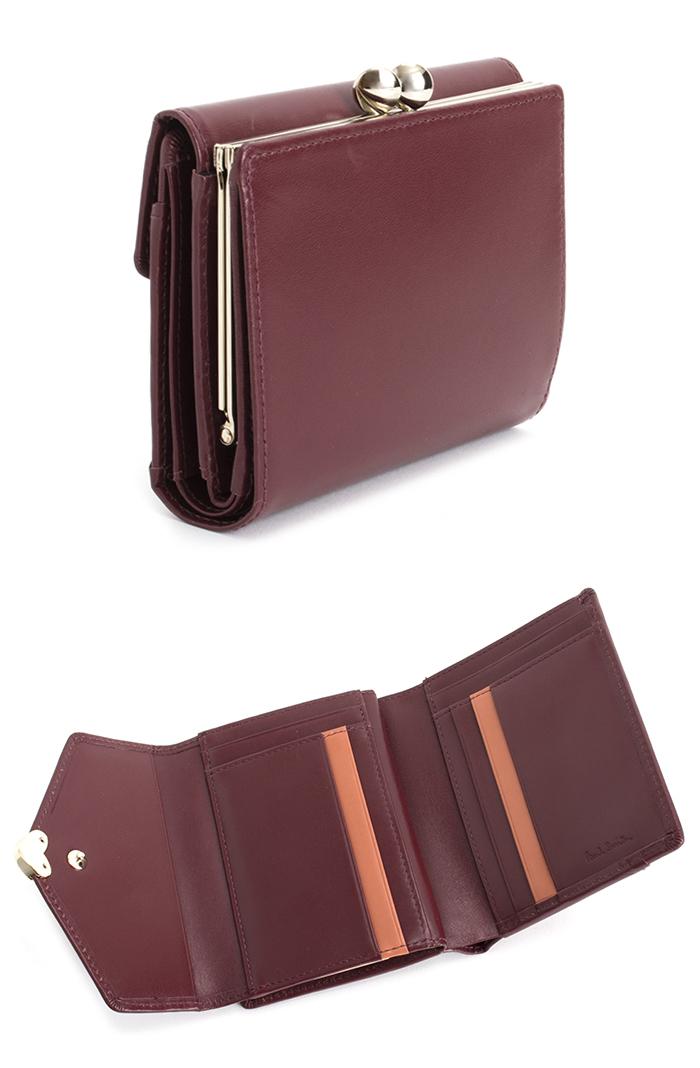 0c48a1b6c17b ポールスミス 財布 二つ折り財布 がま口財布 ワイン Pau...|select shop ...