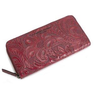 割引クーポン 展示品箱なし キャサリンハムネット 財布 長財布 ラウンドファスナー 赤 KATHARINE HAMNETT LONDON khp345-20 レディース 婦人, 芳賀郡 a37bb3ae